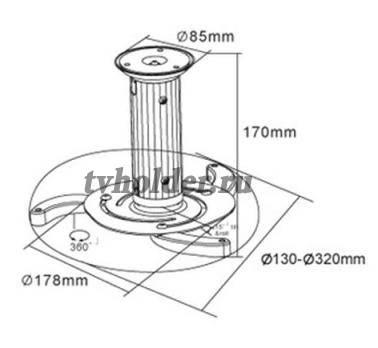 Tvholder - Кронштейн для проектора PRB-1