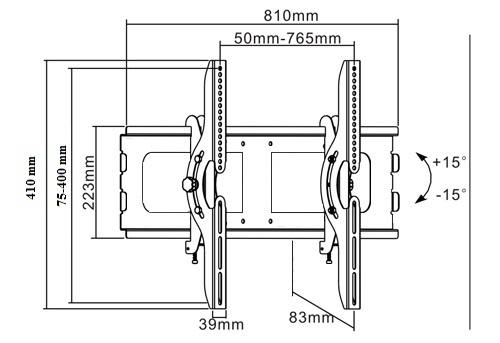 Tvholder - Наклонный кронштейн PLB-2