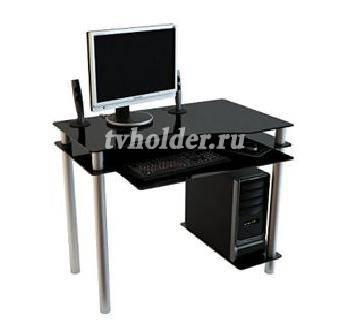 АКМА - Компьютерный стеклянный стол NOIR-01
