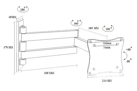 TvHolder - Кронштейн наклонно-поворотный LCD-11