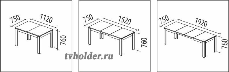 Витра - Обеденный стол Орфей 16.1