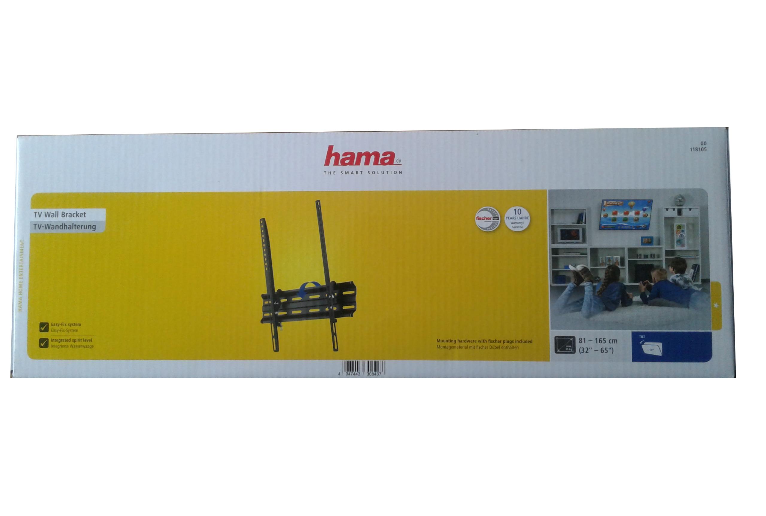 """HAMA - Наклонный кронштейн для ТВ 32-65"""" HAMA 118105"""