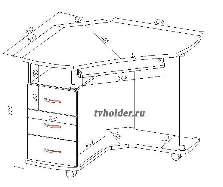 Васко - Компьютерный стол КС 2025