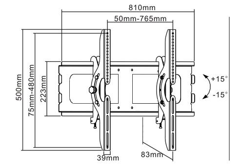 Tvholder - Кронштейн PLB-2