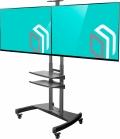 """Подробнее о `TVHolder - Выставочный мобильный стенд для двух телевизоров 40-65"""" TS3881`"""